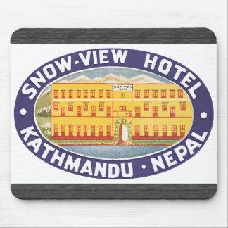 Snow-View Hotel Kathmandu Nepal, Vintage Mouse Pads