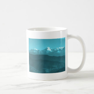 Snow views of Chinese Mountains from Almora Hills Coffee Mug