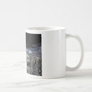 snow village coffee mug