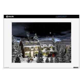 snow village laptop decals