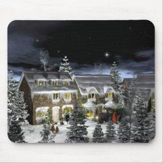 snow village mouse pad