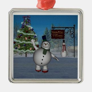 Snow Village Ornament