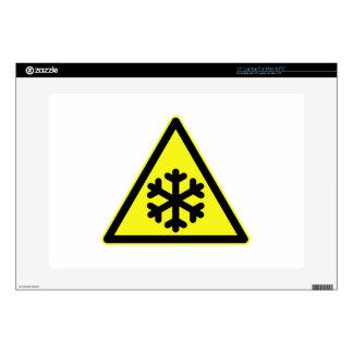 "Snow Warning Sign Skins For 15"" Laptops"