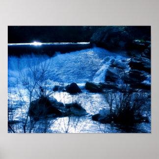 """Snow Water Falls"" Poster"