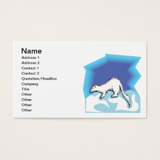 Snow Weasel Business Card