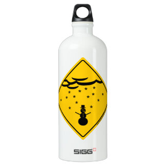Snow Weather Warning and Clothing Aluminum Water Bottle