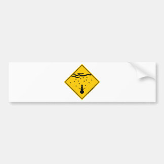 Snow Weather Warning Merchandise and Clothing Bumper Sticker