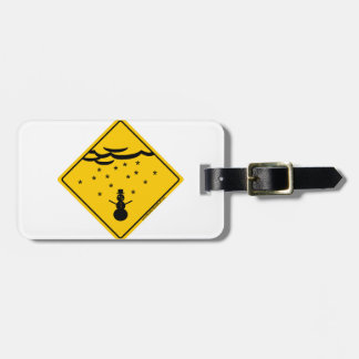 Snow Weather Warning Merchandise and Clothing Tag For Luggage