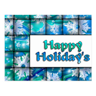 Snow Weave Happy Holiday Postcard