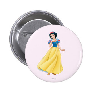 Snow White 2 Inch Round Button