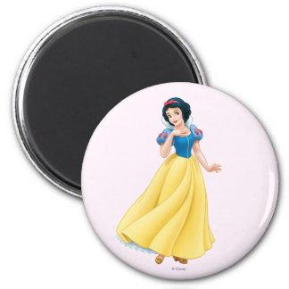 Snow White 2 Inch Round Magnet