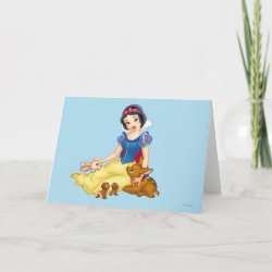 Standard Card with Disney Princess Snow White with cute furry animal friends design