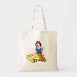 Budget Tote with Disney Princess Snow White with cute furry animal friends design