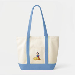 Disney Princess Snow White with cute furry animal friends Impulse Tote Bag