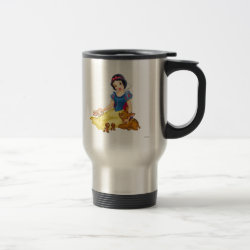 Travel / Commuter Mug with Disney Princess Snow White with cute furry animal friends design