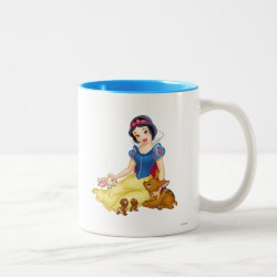 Disney Princess Snow White with cute furry animal friends Two-Tone Mug