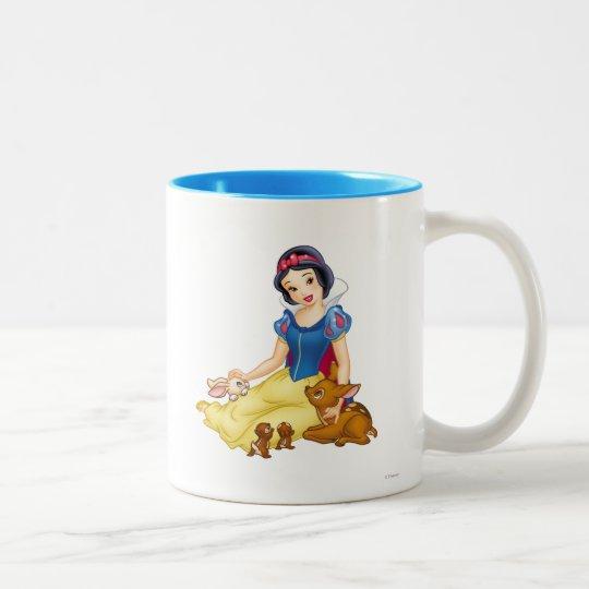 Snow White and Animal Friends Two-Tone Coffee Mug