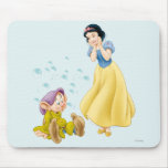 Snow White and Dopey Bubbles Mouse Pad