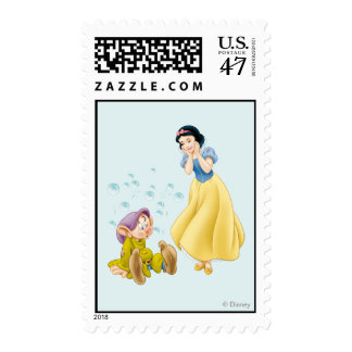 Snow White and Dopey Bubbles Postage Stamp