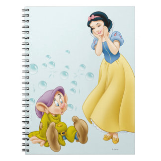 Snow White and Dopey Bubbles Spiral Notebook
