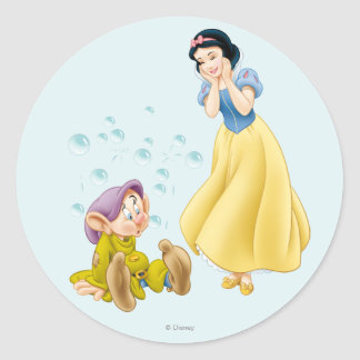 Snow White and Dopey Bubbles Stickers