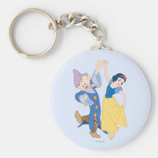 Snow White and Dopey dancing Keychain