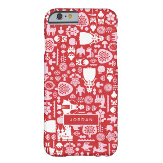 Snow White and Friends Pattern | Add Your Name Barely There iPhone 6 Case