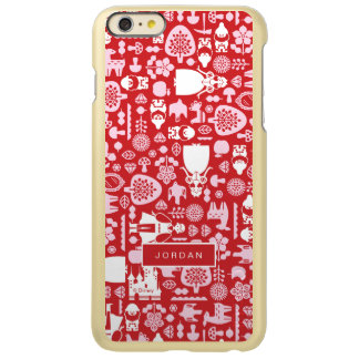 Snow White and Friends Pattern | Add Your Name Incipio Feather Shine iPhone 6 Plus Case