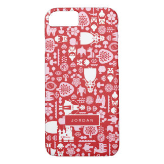 Snow White and Friends Pattern | Add Your Name iPhone 8/7 Case