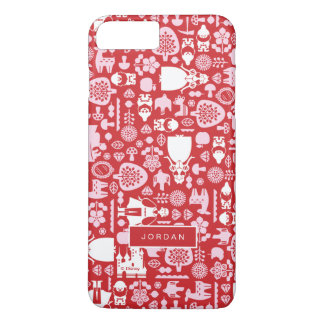 Snow White and Friends Pattern | Add Your Name iPhone 8 Plus/7 Plus Case