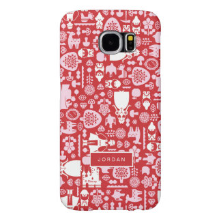 Snow White and Friends Pattern | Add Your Name Samsung Galaxy S6 Case