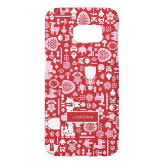 Snow White and Friends Pattern | Add Your Name Samsung Galaxy S7 Case