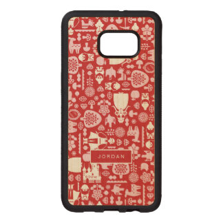 Snow White and Friends Pattern | Add Your Name Wood Samsung Galaxy S6 Edge Case