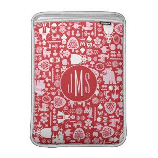Snow White and Friends Pattern | Monogram MacBook Sleeve