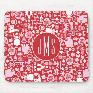 Snow White and Friends Pattern   Monogram Mouse Pad