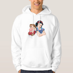 Men's Basic Hooded Sweatshirt with Stylized Marshmallow Silhouette design