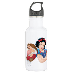 Water Bottle (24 oz) with Iconic: Cinderella Framed design