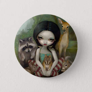 """Snow White and Her Animal Friends"" Button"