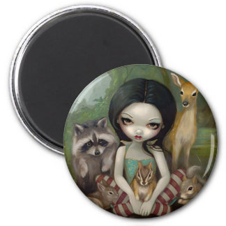 """""""Snow White and Her Animal Friends"""" Magnet"""