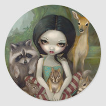 """Snow White and Her Animal Friends"" Sticker"