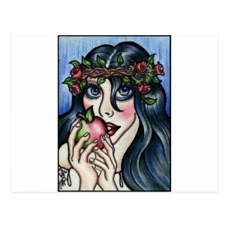 Snow white and her Apple. Fairytale fantasy art Postcard