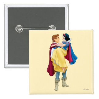 Snow White and Prince Charming 2 Inch Square Button