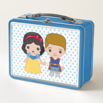 Snow White and Prince Charming Emoji Metal Lunch Box