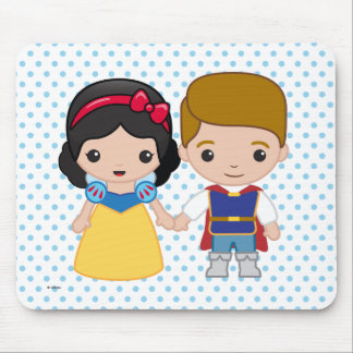 Snow White and Prince Charming Emoji Mouse Pad