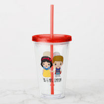 Snow White and Prince Charming Emoji - Mr. & Mrs. Acrylic Tumbler