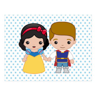 Snow White and Prince Charming Emoji Postcard