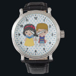 "Snow White and Prince Charming Emoji Wrist Watch<br><div class=""desc"">Express yourself with this super cute Snow White and Prince Charming Emoji</div>"