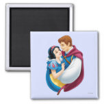 Snow White and Prince Charming Hugging 2 Inch Square Magnet