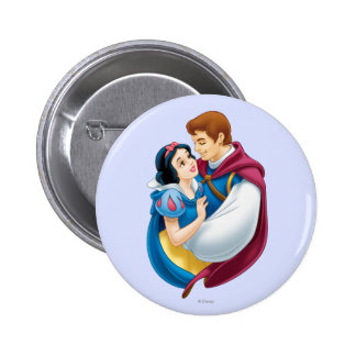 Snow White and Prince Charming Hugging Button