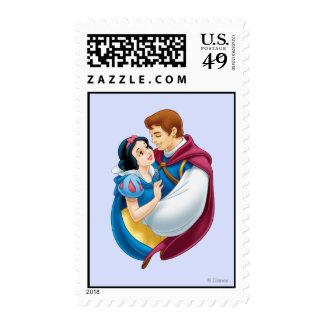 Snow White and Prince Charming Hugging Postage Stamp